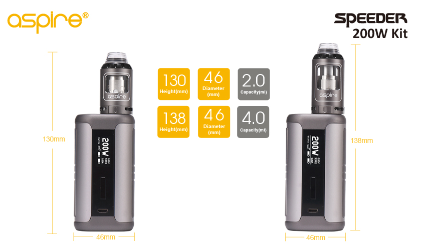 Aspire Speeder 200w kit 4ml Version