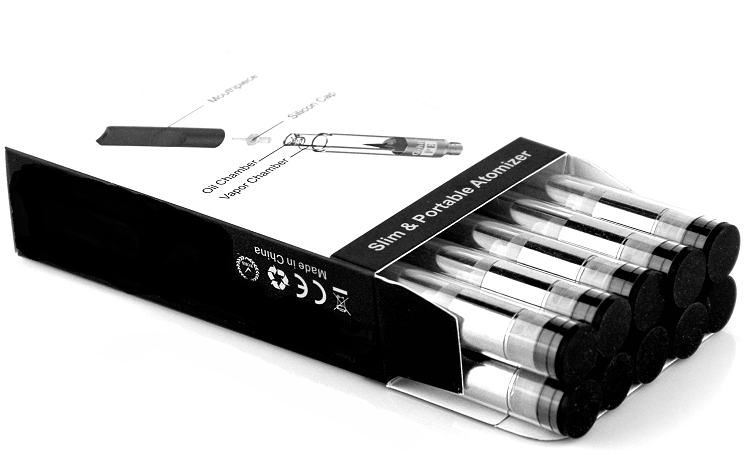 1 ml or 0 8 ml or 0 5 ml Clear 510 Vape Cartridges - Triple