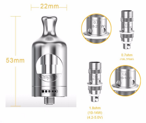 Image result for 1 x Nautilus 2 Tank 1 x Aspire Nautilus BVC Atomizer 0.7ohm 1 x Aspire Nautilus BVC Atomizer 1.8ohm 1 x Extra Glass Tube 1 x User Manual Spares
